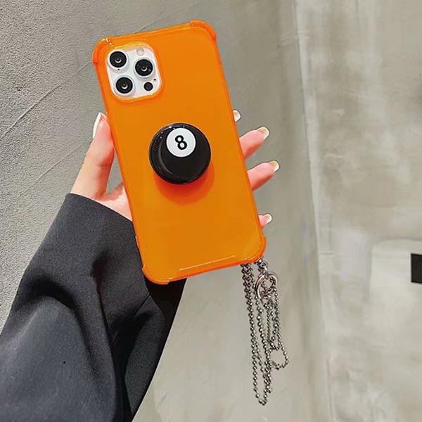 蘋果 iPhone12 Pro Max iPhone11 XR XS Max SE iPhone8 iPhone7 手機殼 8號球 蘋果手機殼 掛繩