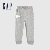Gap女幼童 Gap x Disney迪士尼聯名碳素軟磨系列法式圈織 運動休閒褲 677875-淺灰色