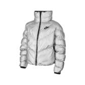 Nike 外套 NSW Synthetic Fill Shine Jacket 銀 黑 女款 鋪棉夾克 保暖 運動休閒 【PUMP306】 BV3136-095