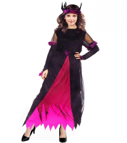 壞皇后服裝-粉】女巫婆萬聖誕節表演服舞衣道具cosplay大人造型白雪公主裙灰姑娘服裝