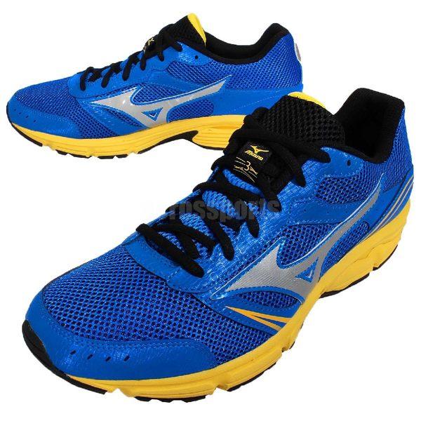 【六折特賣】美津濃 Mizuno 慢跑鞋 Wave Impetus 3 藍 黃 銀 輕量穩定 男鞋 【PUMP306】J1GE151304