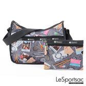 LeSportsac - Standard側背水餃包/流浪包-附化妝包 (旅行的意義) 7520P E203