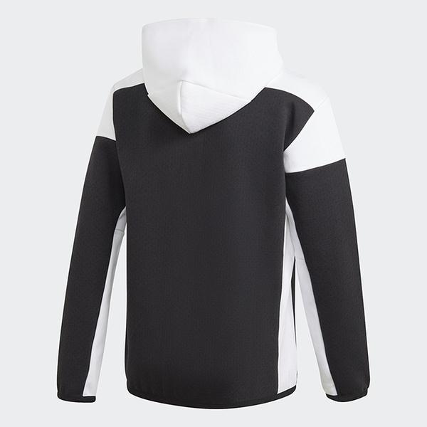 【跨店折後$3280】adidas Z.N.E. 連帽外套 男款 黑白 拼接 運動 休閒 舒適 透氣 GM6533