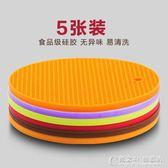 創意硅膠墊 杯墊歐式隔熱墊餐桌墊日式防滑鍋墊圓形墊家用 概念3C旗艦店