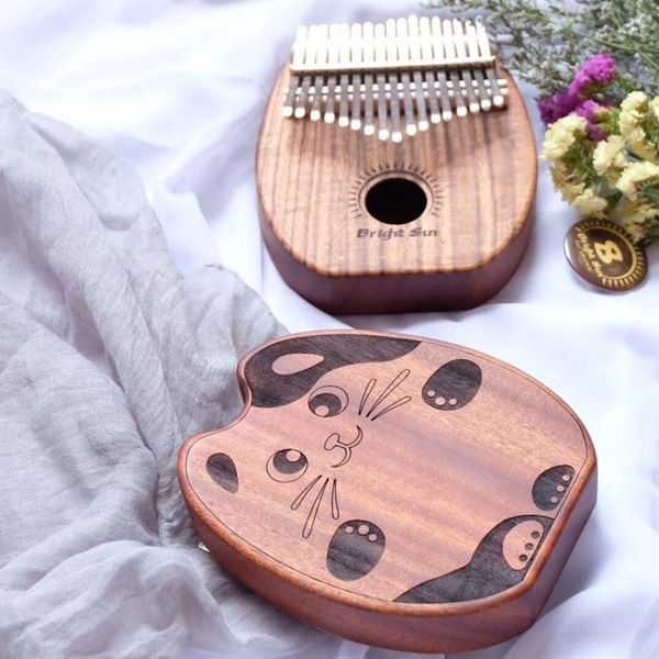 卡林巴琴 進口7音椰殼17音拇指琴桃花芯單板手指鋼琴10音手指琴 【全館免運】