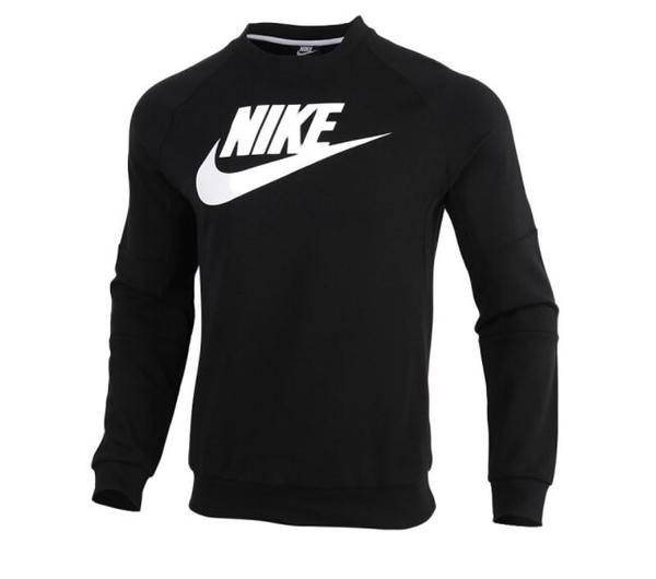 NIKE服飾系列-M NSW MODERN CRW FLC HBR 男款黑色長袖上衣-NO.CU4474010