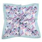 NINA RICCI滿版花卉圖騰絹絲綿領帕巾(水藍色)989028-C