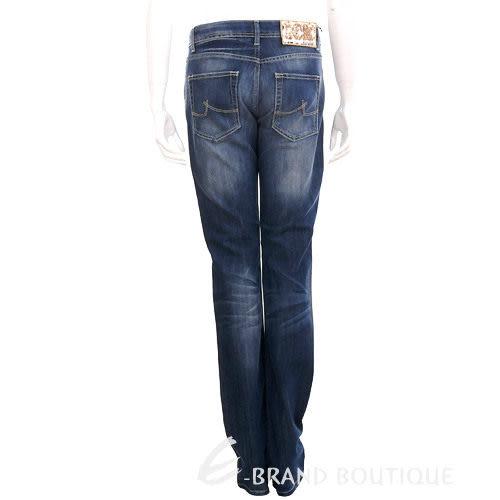 ICE 仿舊刷色亮片飾牛仔褲(藍色) 1010360-23
