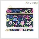 零錢包 包包 防水包 雨朵小舖M324-031 花漾小雙拉手拿包-黑絢爛的花14212 funbaobao
