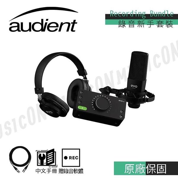【南紡購物中心】錄音套裝組 Audient EVO 4 Recording Bundle 錄音介面.麥克風.避震架.軟體