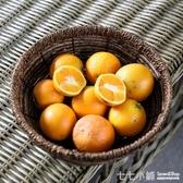 北歐風藤草編創意干果盤 年貨零食收納盤糖果盤 編織水果盤
