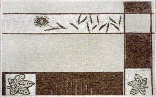 范登伯格 綠洲★大地系圈毛踏墊(內附止滑網)-楓葉(淺款)50x80cm