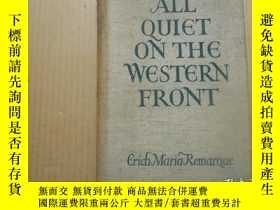 二手書博民逛書店罕見All Quiet On the Western Front 【西線無戰事,埃裏希馬裏亞雷馬克,英文原版,19