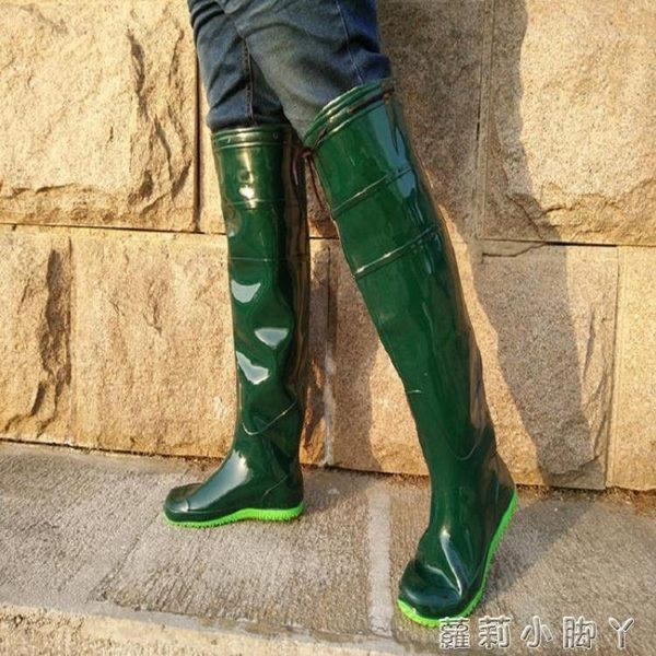 高筒過膝雨鞋水靴農用靴插秧鞋水田襪男女士柔軟薄底釣魚雨靴 蘿莉小腳ㄚ