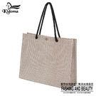 手提袋-編織袋(L)-咖啡白-01C...