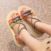 女童涼鞋新款公主軟底