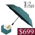 699 特價 雨傘 ☆萊登傘☆ 防撥水 加大傘面 防風抗斷102cm自動傘 素面布 鐵氟龍 Leotern 自然綠