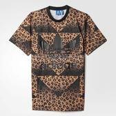 adidas T恤 Cheetah Jersey Tee 短T 短袖 咖啡黑 豹紋 男款【PUMP306】 AJ7854