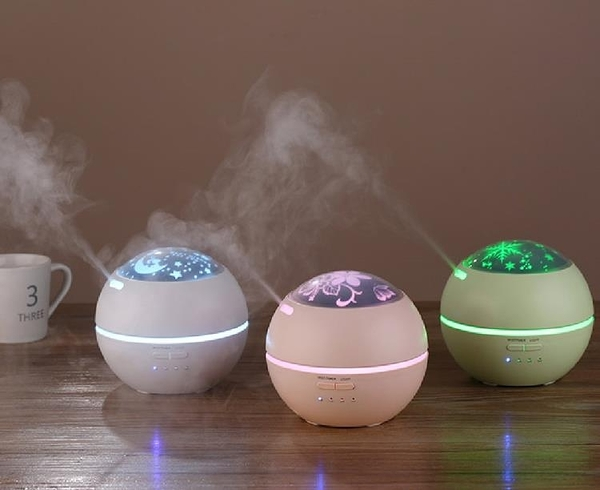 Brisk光影香薰機香薰燈加濕器熏香爐精油噴霧機補水靜音送4精油