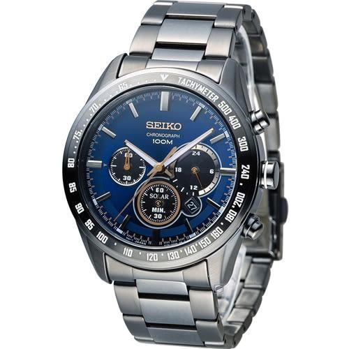 SEIKO Criteria 極速狂風太陽能計時腕錶 V175-0DK0A SSC471P1