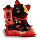 【金石工坊】商業繁盛黑貓(高17.5CM...