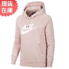 【現貨】NIKE Sportswear 女裝 長袖 連帽 休閒 薄刷毛 大LOGO 藕粉【運動世界】BV4127-645