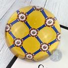 BRAND楓月 GUCCI GG 古馳 藍黃色 GG圖案 水晶紙鎮 擺設 文書用品 收藏品