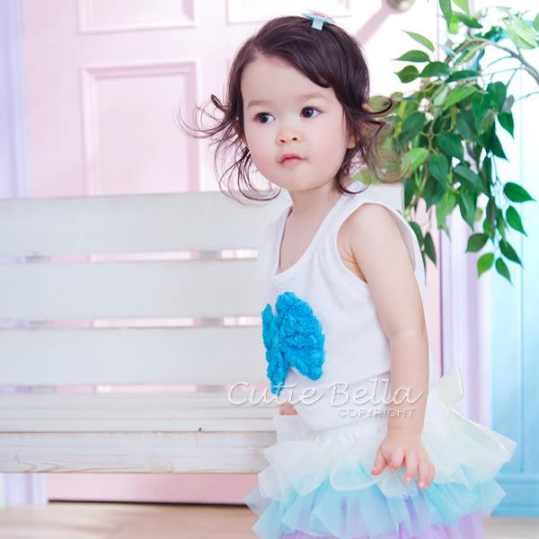 Cutie Bella無袖上衣/背心Bow-Aqua