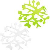 《KOZIOL》Blo不干擾插花器(白綠2入)