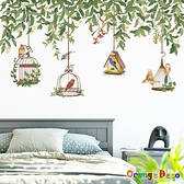 【橘果設計】林中雀鳥 壁貼 牆貼 壁紙 DIY組合裝飾佈置