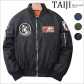 大尺碼飛行外套‧軍風刺繡貼章內裡口袋設計飛行夾克‧三色‧加大尺碼【NTJBD8010】-TAIJI-