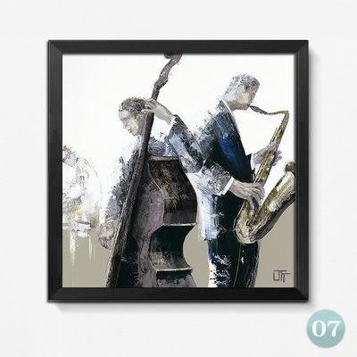 [銀聯網] 歐式油畫風格餐廳裝飾畫(黑框) 1入