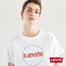 Levis 女款 短袖學院T恤 / 中短版方正寬袖版型 / 復古Logo