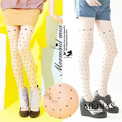 美娜斯 愛心點點絲襪/褲襪(#247)共2色