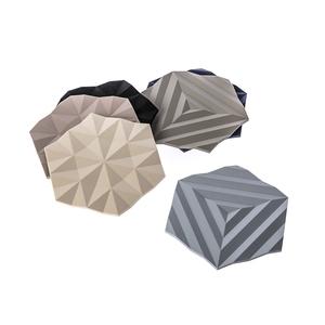 (組)丹麥ZONE FACET系列菱紋矽膠鍋墊-黑+沙漠灰