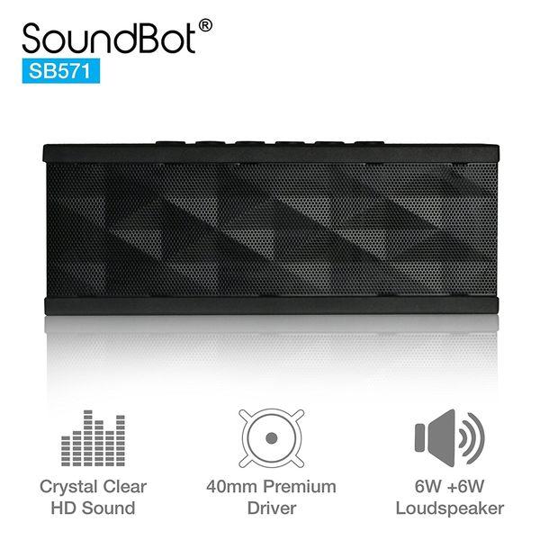 美國聲霸SoundBot SB571 藍牙2.1聲道隨身喇叭 6W + 6W 盒損福利品