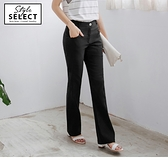 《KG0054》台灣製造.涼感修身質感小喇叭西裝長褲--適 2L~6L OrangeBear