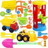 兒童沙灘玩具套裝車大號沙漏鏟子沙桶寶寶沙池工具玩沙決明子玩具