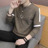 薄款男士毛衣時尚圓領針織衫男青年學生打底衫套頭修身潮 黛尼時尚精品