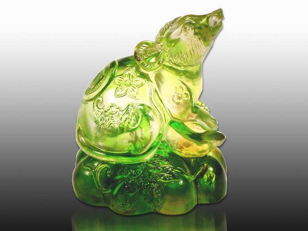 鹿港窯-居家開運商品-琉璃S十二生肖文鎮【鼠】附精美包裝◆免運費送到家