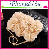 Apple iPhone6/6s 4.7吋 Plus 5.5吋 淑女風皮套 珍珠玫瑰花保護殼 側翻手機殼 可插卡保護套 磁扣手機套