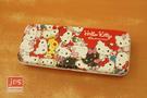 Hello Kitty 凱蒂貓 寬雙層筆盒 鐵筆盒 鉛筆盒 滿版 紅 KRT-215884