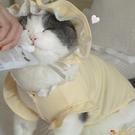 網紅寵物衣服狗狗貓咪衣服 韓國奶黃色baby帽衫套裝棉秋冬【小獅子】