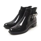 Petite Jolie  個性扣環切爾西短靴-黑色