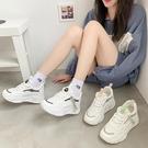 老爹鞋 內增高小白鞋女鞋秋季新款百搭厚底學生老爹鞋-Ballet朵朵