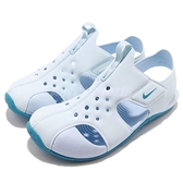 Nike 涼鞋 Sunray Protect 2 PS 藍 運動鞋 魔鬼氈 小朋友 中童鞋【ACS】 943828-400