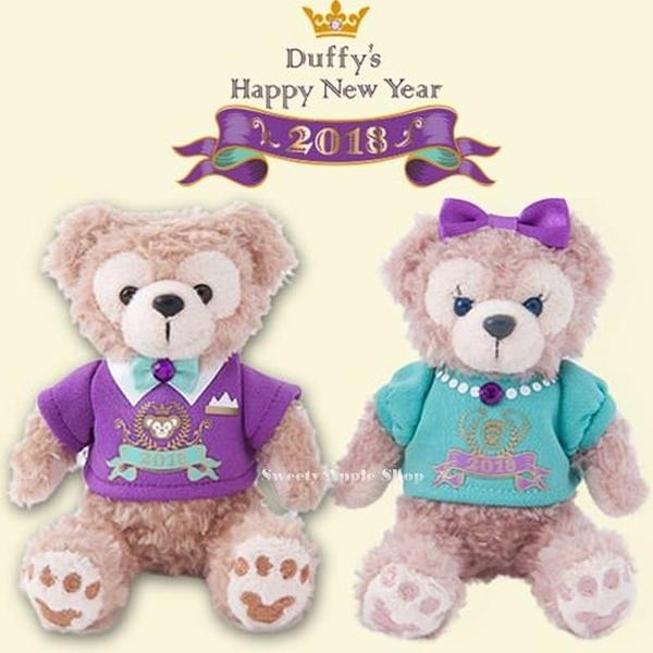 (現貨&樂園實拍) 東京迪士尼限定 DUFFY 達菲&雪莉枚 2018 HAPPY NEW YEAR 紀念玩偶 禮盒套組