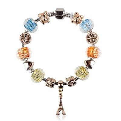 手鍊 串珠-琉璃飾品繽紛鐵塔生日情人節禮物女配件73bm120【時尚巴黎】