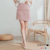 東京著衣-tokichoi-溫柔婉約假口袋造型多色A字短裙-S.M.L(182681)