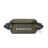 KANGOL袋鼠綠色腰包斜背包-NO.6025301270